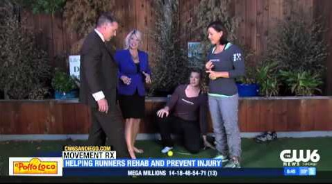 Dr. T and Dr. Annemarie talk Footcare for Runners on the San Diego CW6 News